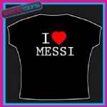 I LOVE HEART MESSI BARCELONA FOOTBALL TSHIRT